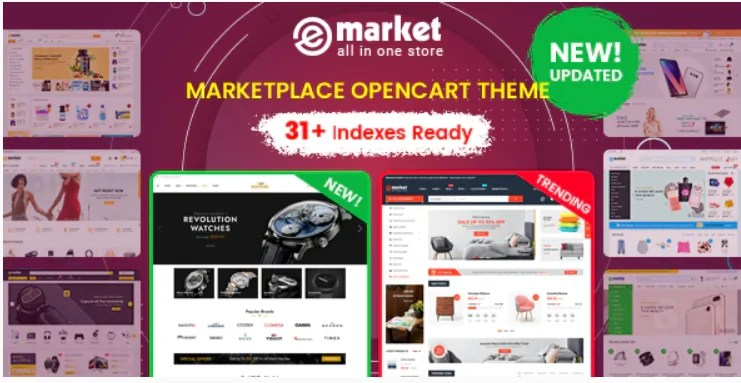 You are currently viewing eMarket 1.2.7 – Multi-purpose MarketPlace OpenCart 3 Theme