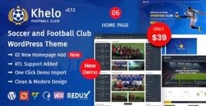 Read more about the article Khelo 2.7.4 – Soccer & Sports WordPress Theme