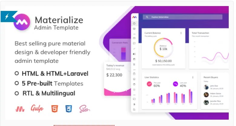 You are currently viewing Materialize 7.3 – HTML & Laravel Material Design Admin Template