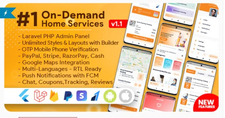 Read more about the article On-Demand Home Services, Business Listing, Handyman Booking with Admin Panel 1.2.1 Nulled