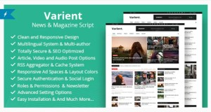 Read more about the article Varient 1.9 Nulled – News & Magazine Script