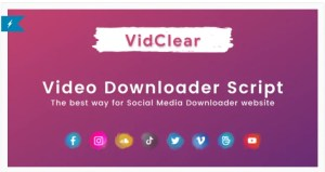 Read more about the article VidClear 1.0.7 – Video Downloader Script