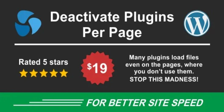 You are currently viewing Deactivate Plugins Per Page 1.13.1 – Improve WordPress Performance