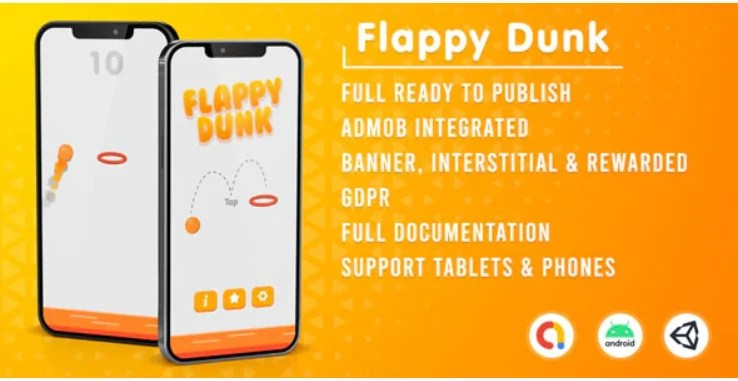 You are currently viewing Flappy Dunk 1.0 (Admob + GDPR + Unity)