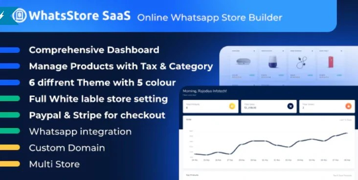 You are currently viewing WhatsStore SaaS 3.7 NULLED – Online WhatsApp Store Builder