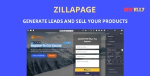 Read more about the article Zillapage 1.1.4 – Landing page and Ecommerce builder