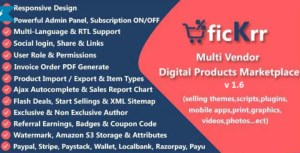Read more about the article ficKrr 1.6 – Multi-Vendor Digital Products Marketplace