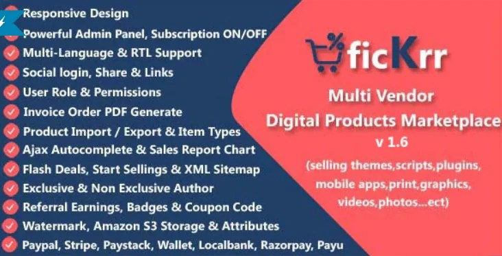 You are currently viewing ficKrr 1.6 – Multi-Vendor Digital Products Marketplace