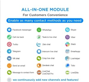 Read more about the article All-in-One Module – Live Chat, WhatsApp, Call Back, Messenger 1.9.83