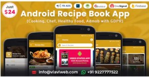 Read more about the article Android Recipe Book App 2.4 – (Cooking,Chef,Healthy Food, Admob with GDPR)