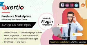 Read more about the article Exertio 1.0.8 – Freelance Marketplace WordPress Theme