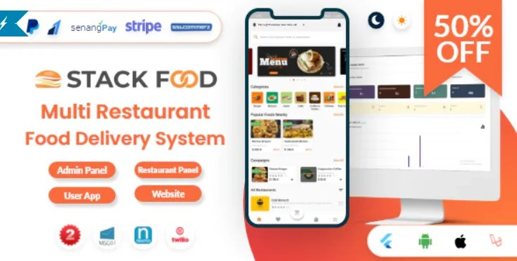 Read more about the article StackFood Multi Restaurant 4.0 NULLED – Food Delivery App