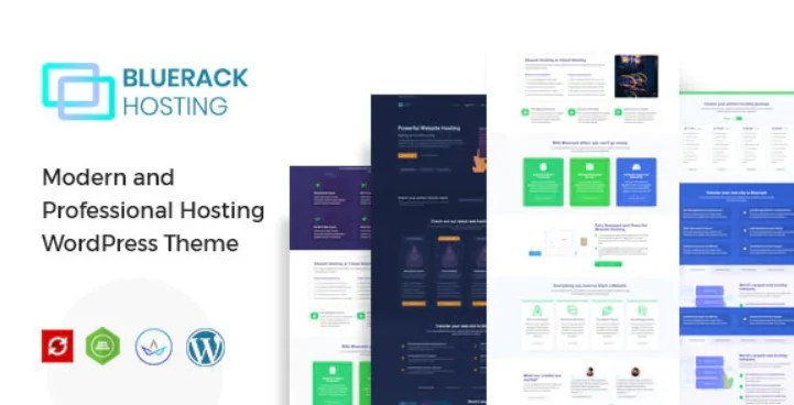 Read more about the article Bluerack 2.0 – Modern Hosting WordPress Theme