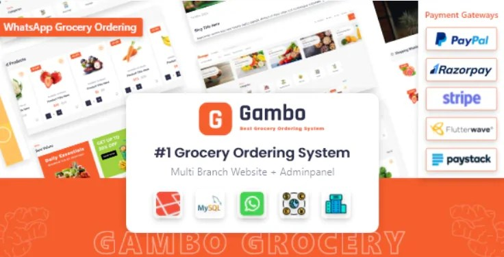 You are currently viewing Gambo 6.0 NULLED – Online Grocery Ordering System
