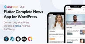 Read more about the article Newsfreak 1.5.0 – Flutter News App for WordPress