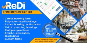 Read more about the article ReDi Restaurant Booking 21.0914 – WordPress Plugin