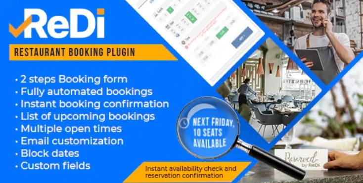 You are currently viewing ReDi Restaurant Booking 21.0914 – WordPress Plugin