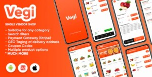 Read more about the article Vegi 1.0 (1 October 21) – The Ultimate Grocery – Android / Laravel