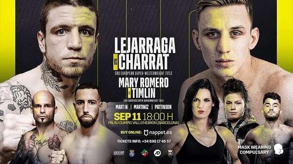 Watch Wrestling Boxing: Lejarraga vs. Charrat 9/11/21