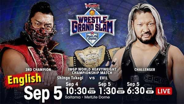 Watch Wrestling NJPW WRESTLE GRAND SLAM in MetLife Dome 9/5/21 Day2
