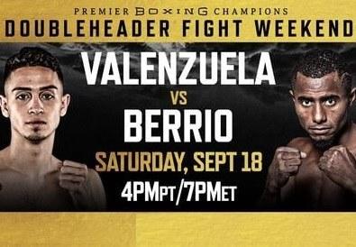 Watch Wrestling PBC Valenzuela vs. Berrio 9/18/21