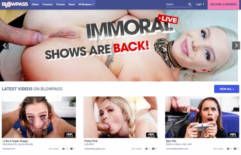Blowpass - Premium Porn Sites