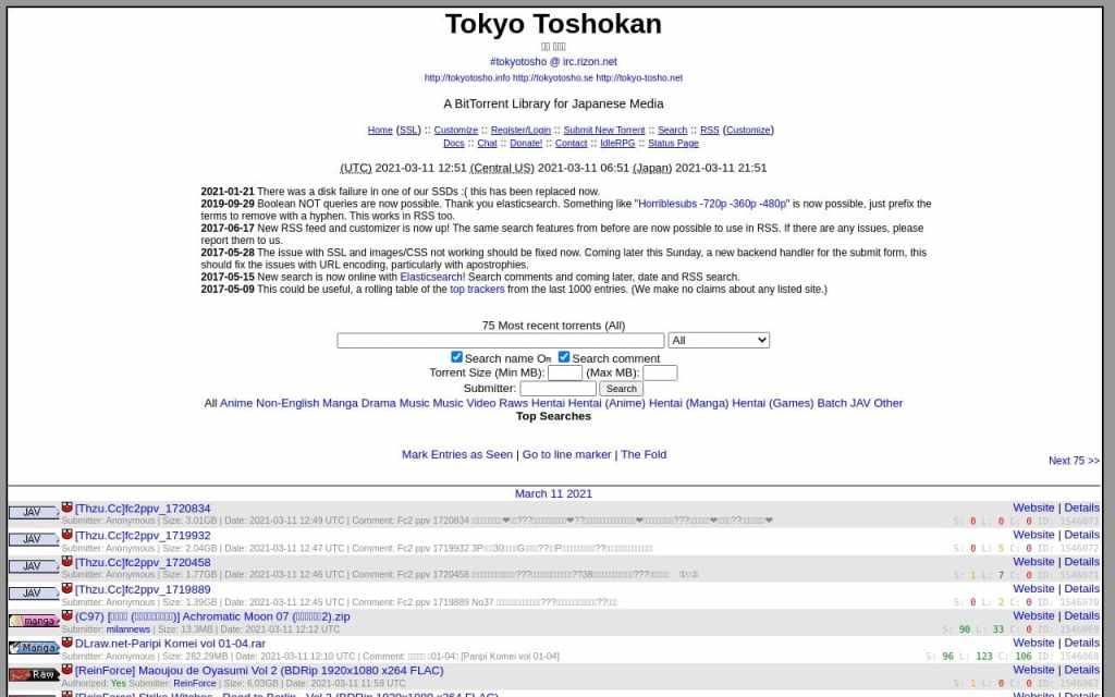 Tokyotosho - best Porn Torrent Sites