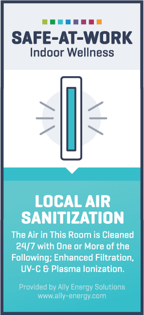 local air sanitization label vertical