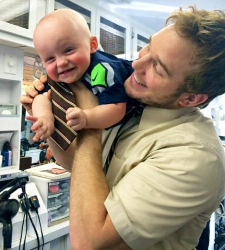 Chris Pratt with Jack