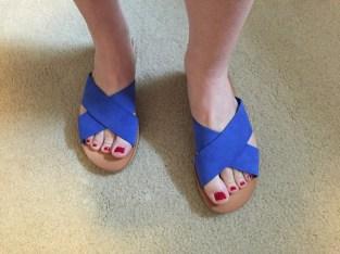 Dolce Vita Monica Suede Criss Cross Slide Sandal