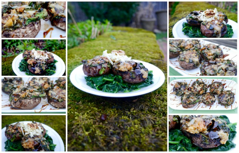 Stuffed Portobello Mushrooms with Maple Balsamic Reduction
