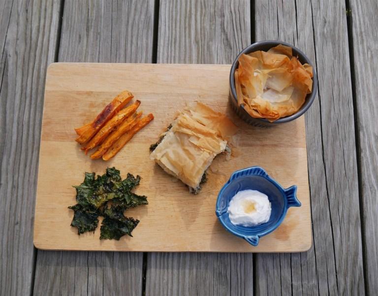 Spanakopita-Kale-Chips-Apple-Phyloo