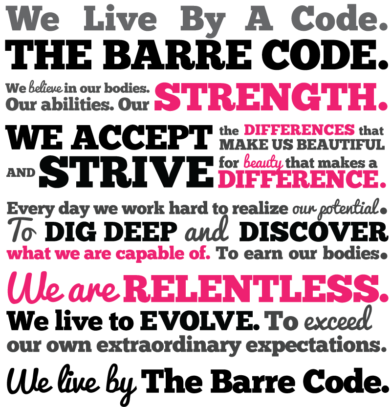 The Barre Code Mantra