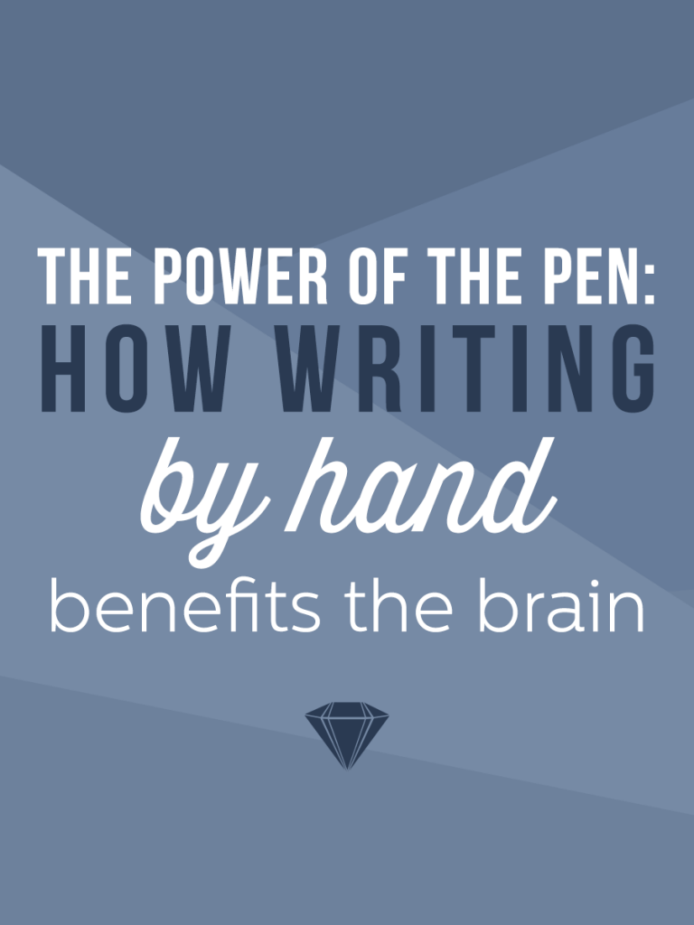 There are so many reasons why we need to keep putting the old fashion pen to paper!