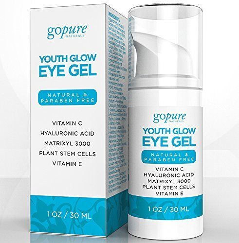 goPURE Natural Eye Cream for Dark Circles, Puffiness, Bags & Wrinkles