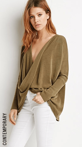 Twist-Front Sweater
