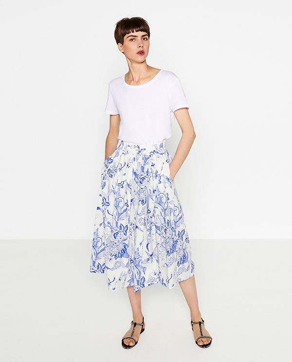 77f6324d4 Y a vosotras, os gustan las faldas midi?? yo me voy ha hacer con una seguro  este verano, la añado a mi lista de deseos que cada día es mas larga… ...