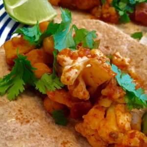 Vegan Cauliflower Chickpea Tacos Al Pastor