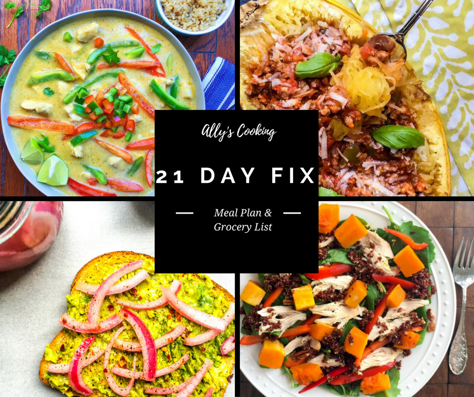 Diet Deliciously! 21 Day Fix Meal Plan and Grocery List