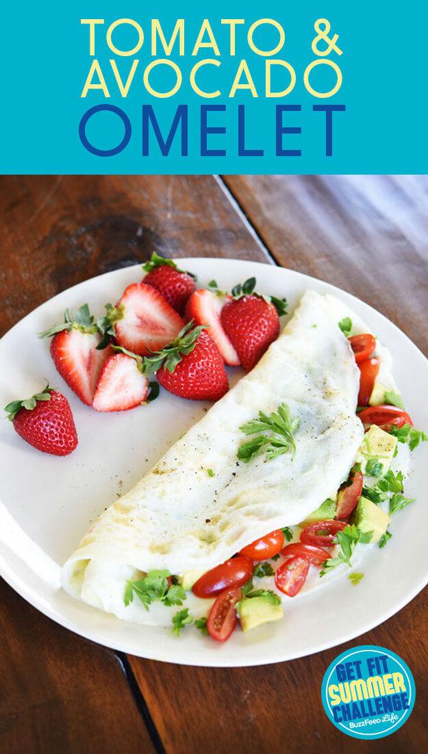 Buzzfeed's Tomato Avocado Omelet