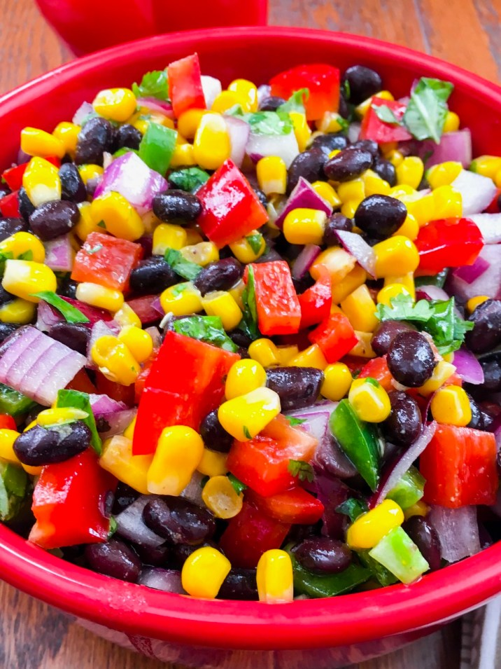 Black Bean, Corn, and Pepper Salad
