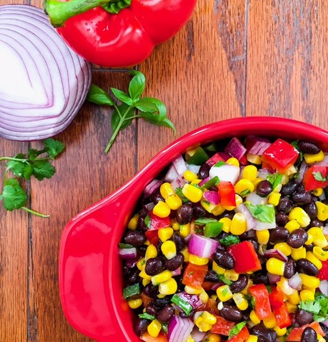 Black Bean, Corn, and Pepper Salad