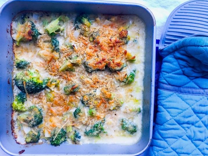 Skinny Broccoli Au Gratin