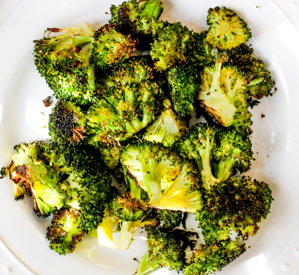 Roasted and Blackened Garlic and Lemon Broccoli