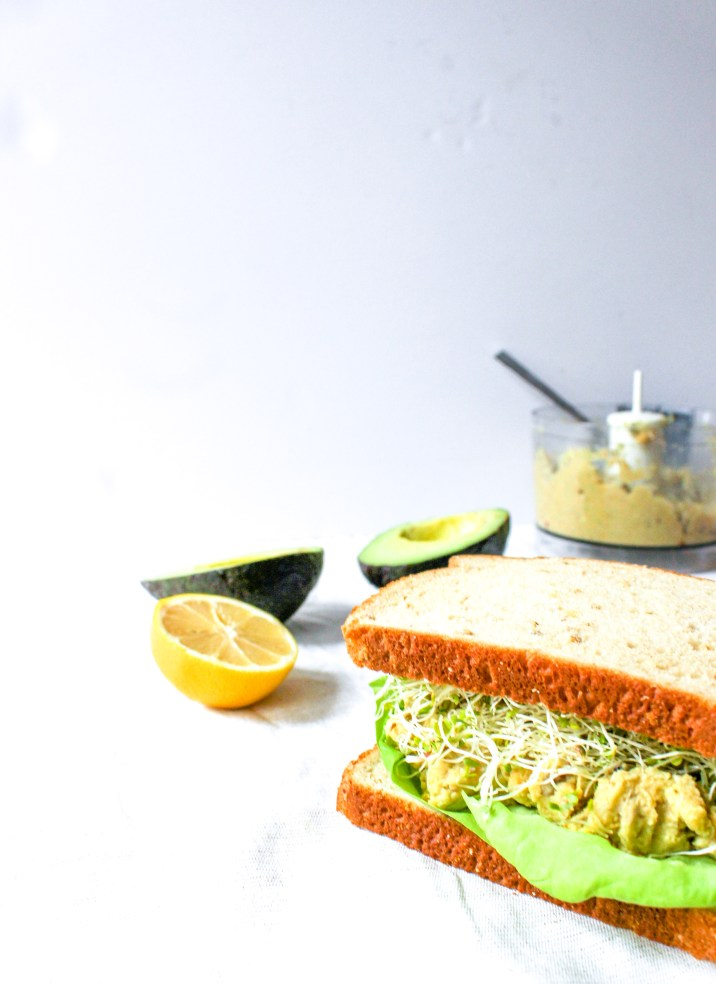 Green Goddess Sandwich with Chickpea Avocado Mash