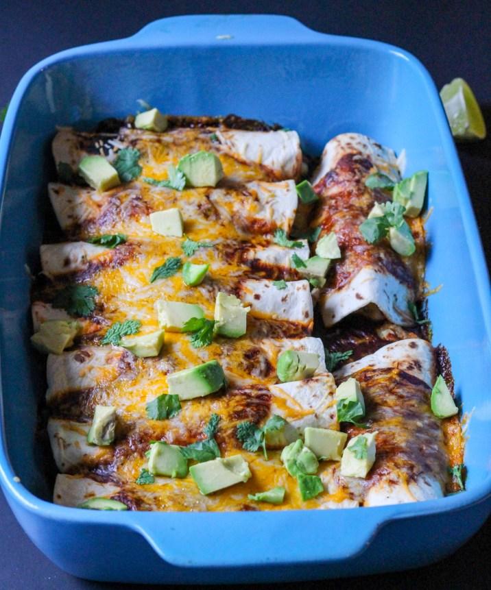 Red Pulled Pork Enchiladas