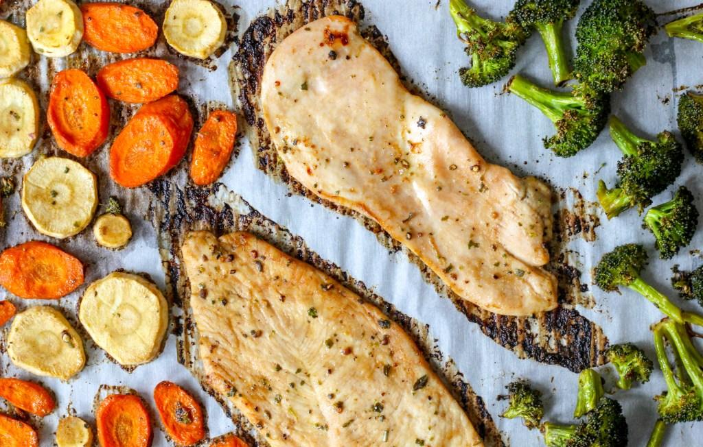 20 Minute Healthy Chicken Sheet Pan Dinner