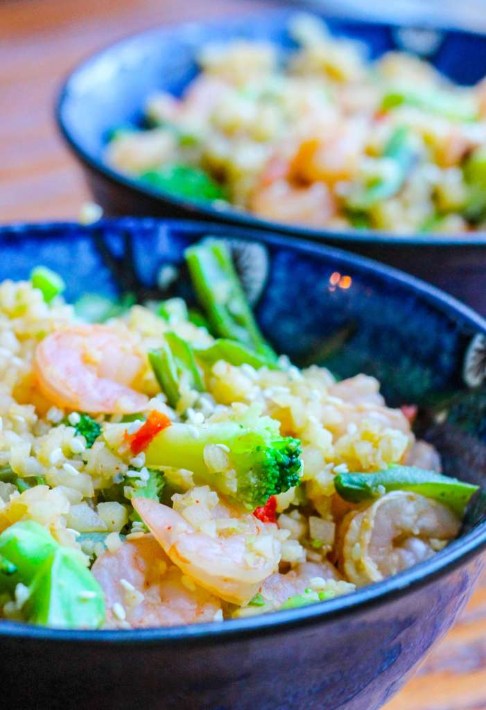 "Shrimp and Cauliflower ""Fried Rice"""