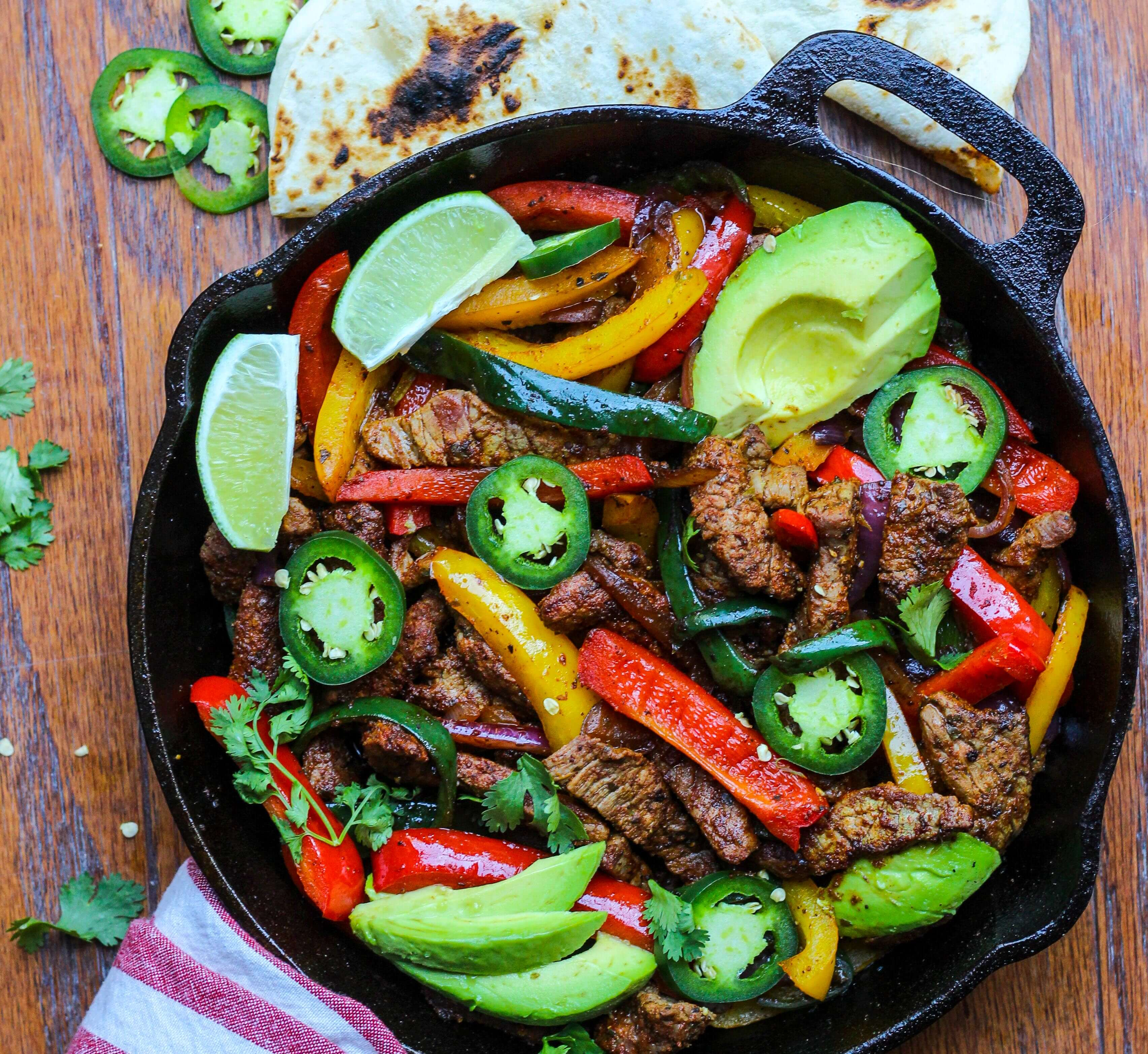 20 Minute Steak Fajita Skillet