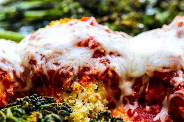 Sheet Pan Chicken Parmesan